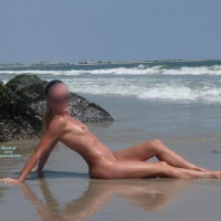 Nude Wife: My Blonde On The Beach