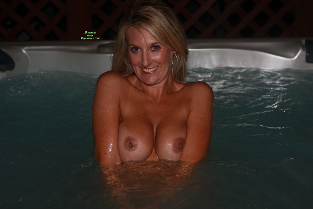 Smiling In Hottub Flashing Boobs - Blonde Hair, Flashing, Milf, Tan Lines, Topless, Naked Girl, Nude Amateur , Topless In Hottub, Big Smile, Nude Milf, Top Above Water, Kneeling In Hot Tub, Smiling While Exposing Breasts, Smiling Blonde Milf, Nice Round Tits, Wet Milf, Naked In Hot Water, Curly Hair