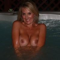 Smiling In Hottub Flashing Boobs - Blonde Hair, Flashing, Milf, Tan Lines, Topless, Naked Girl, Nude Amateur