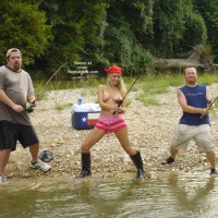 Fishing Buddy S - Blonde Hair, Fishing, Topless