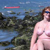 Nude Wife:Yummy Mommy At Acadia Beach