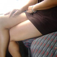 Bottomless Wife:Sacha In The Bus