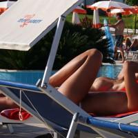 Beach Voyeur:Around The Pool In Sicilia