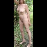 Nude Girlfriend on heels:Heels In The Woods: Follow Up