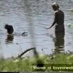 Beach Voyeur:4 Girls At The Lake