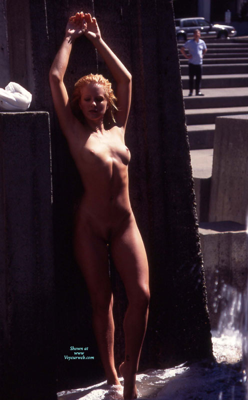 Pic #1 - Exhibitionist - Exhibitionist, Nude Outdoors, Small Tits, Naked Girl, Nude Amateur , Shapely Legs, Tight Body, Nude In A Fountain, Guy Watching Nude Girl Outdoor, Little Tits, Nude Hands Up Outdoors In Shadow, Naked In Public