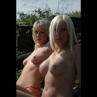 Two Topless Blondes - Nude Outdoors