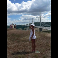 Pantieless Amateur:*PL Kaline At Millau's Viaduc