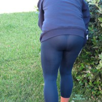 Wife in Lingerie:Yard Work