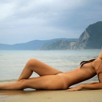 Sexy Nude Girl On Beach - Black Hair, Dark Hair, Long Hair, Nude Outdoors, Small Tits, Beach Voyeur, Naked Girl, Nude Amateur, Nude Wife, Sexy Body, Sexy Figure