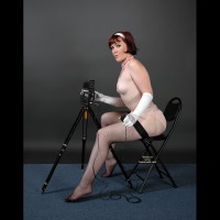 Photo Studio - Red Hair, Small Tits, Stockings