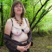 Topless Wife:Autumn Woods