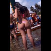 Beach Voyeur:Brasil: Pink Bikini In Porto De Galinhas Beach