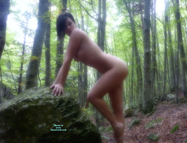 Pic #1 - Softly Curved Naked Body - Brunette Hair, Dark Hair, Nude Outdoors, Small Tits, Looking At The Camera, Naked Girl, Naked Wife, Nude Amateur, Nude Wife , Beautiful Shape, Wood Nymph Ready To Have Sex, Leaning On Rock, Mother Nature, Outdoor Nudity, Knee Bent