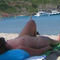 Beach Voyeur: Big Mature Nude Woman