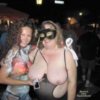 Topless Girlfriend:Fantasy Fest 2010 Exposure