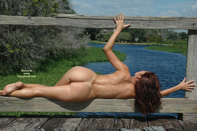 Pic #1 - Rail Guard - Brunette Hair, Butt Shot, Full Nude, Nude Outdoors, Side View , Rail Guard, Buff Chick, Nude Landscape, Awsome Ass, Flawless Back, Full Nude, Side View, Butt Shot, Brunette, Toned Body, Outdoors