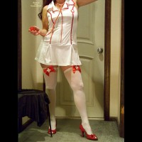 Topless Wife: Halloween Nurse