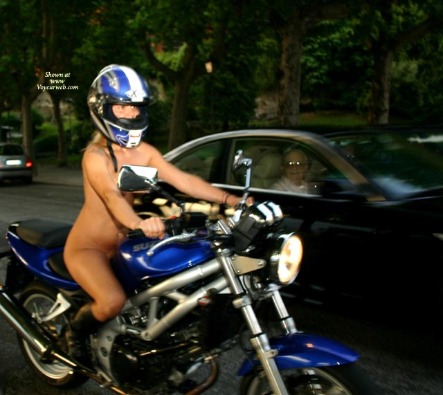 Pic #1 - Nude Girl Riding Bike In Public - Exhibitionist, Nude In Public, Naked Girl, Nude Amateur , Riding A Motorcycle, Nude On Wheels, Grandma About To Lose Her Teeth, Bike Helmet, Biker Babe Practicing Safe Habits, Nude Bike Ride Fun