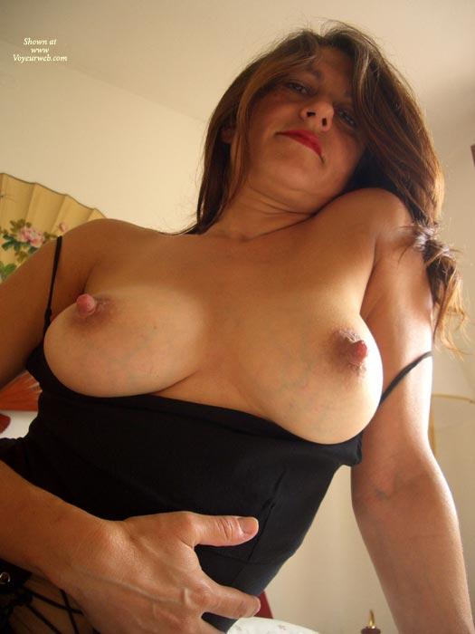 Pic #1 - Erect Nipples - Erect Nipples, Long Nipples, Sultry Look, Top , Erect Nipples, Black Top, Nipple Delights, Topless With A Sultry Look, Long Nipples