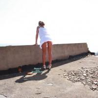Nude Wife on heels:Abandoned Building