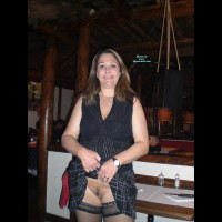 Pantieless Me: Having Fun In A Restaurant Full Of People - Pantieless Girls