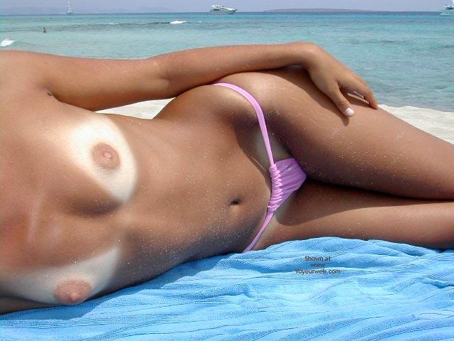 Topless bikini tanlines adult archive