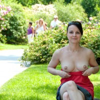 Flashing Tits In Park - Brunette Hair, Dark Hair, Flashing Tits, Flashing, Nude In Public, Perfect Tits, Sunglasses, Topless, Nude Amateur, Topless Wife