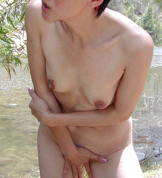 Pic #1 - Wife Cooling Off By The River
