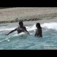 Bouncing Boobs In The Sea