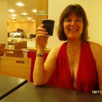 Topless Wife:Flashing At Erotica Uk