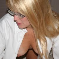 Nipple Peek - Blonde Hair, Glasses, Hangers, Nipples