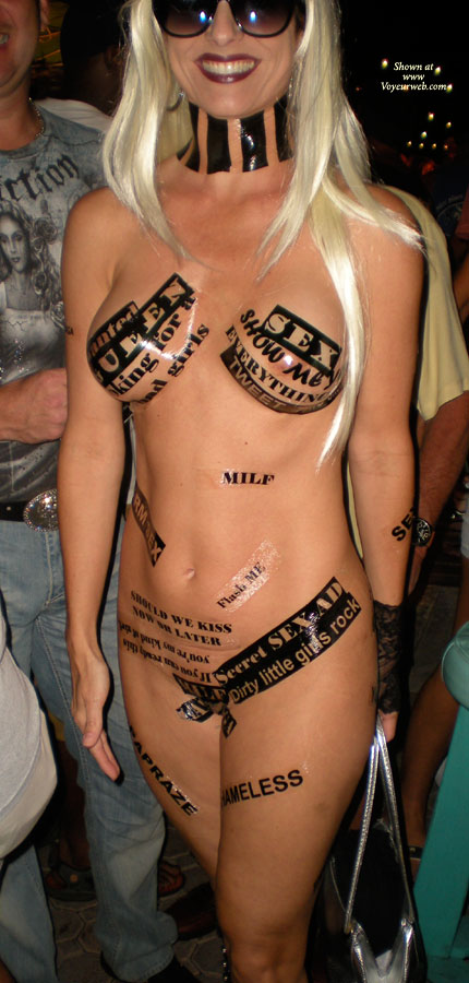 Pic #1 - Nude Girl With Stickers - Sunglasses, Naked Girl, Nude Amateur , Nude Blond Girl With Sunglasses, Naked Beauty, Marketing Genius, Nude Fantasy Fest, Film Buff, Standing Frontal Nude, Labelled Naked, Festival Voyeur, Slutty Outfit, Stickers On Naked Girl