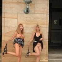 Nude In Public - Black Dress, Exposed In Public, Girls, No Panties, Nude In Public