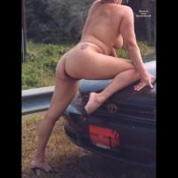 Nude Wife on heels:Walking The Roads
