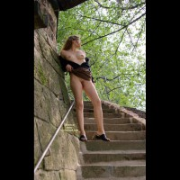 Horny Angel In The Park - Part 1 - Full Frontal Nudity, Nude Outdoors, Stairs