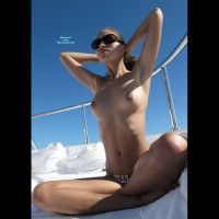 Topless Long Haired Brunette - Brunette Hair, Topless , Topless - Hands Behind Head, Sunning Tits, Sitting In Bow Of Boat, The Morning Watch, Topless Friend, Topless Sunning, Sitting On The Deck Of A Yacht, Brown Nipples, Holding Her Hair Back, Topless Beauty, Sitting Cross Legged