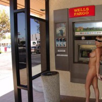 Nude At Atm - Blonde Hair, Nude In Public