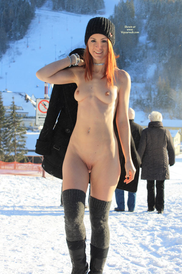 Pic #1 - Naked In Snow Landscape - Exhibitionist, Flashing, Nude In Public, Shaved Pussy, Bald Pussy, Naked Girl, Nude Amateur , Calf Boots, Sexy And Erotic Pelvic Region, Grey Long Socks, Open Coat, Pink Pussy, Naked Winter Walk, Tight Looking Snatch, Nude Exhibitionist