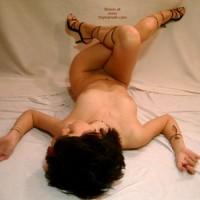 Naked Girl Lying On Her Back - Heels