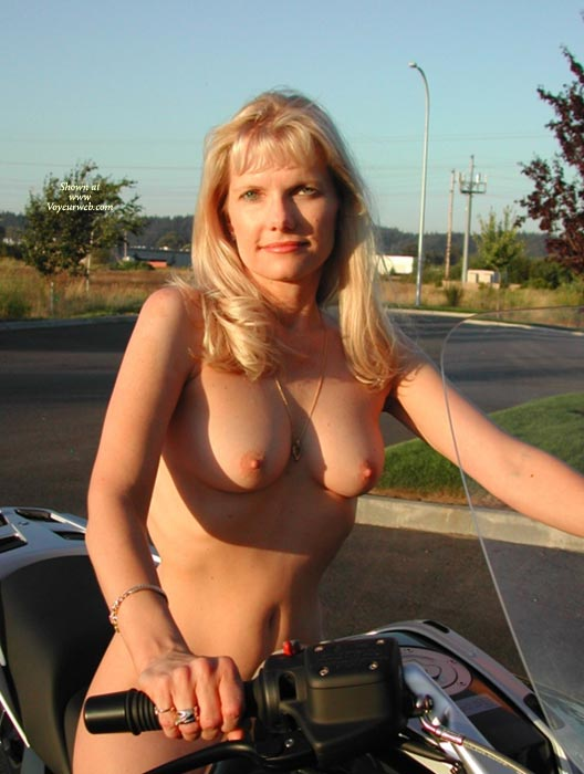 Pic #1 - Nude Lady On Bike - Blonde Hair, Hard Nipple, Natural Tits, Perfect Tits, Topless, Naked Wife, Nude Amateur, Nude Wife , Biker Ride Naked, Blonde Biker, Ultimate Biker Babe, Blond Topless In Sunshine, Green Eyes, Natural Breasts, Nude Sitting On Motorbike, Nude On Bike