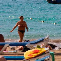 Topless Amateur:Beach Day 2