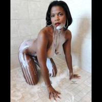 Black Girl With White Milk On Skin - Doggy Style, Nude Amateur