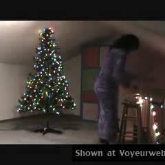 Nude Wife on heels:Superbabe ( Christmas Fun )
