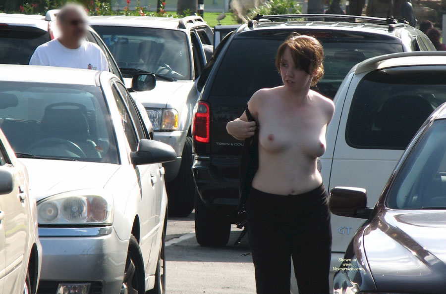 Pic #1 - Topless Woman In Parking Lot - Exhibitionist, Nude In Public, Topless, Nude Amateur , Topless Redhead In Traffic, Changing Her Top On Parking Lot, Exposing Tits In Public, Pretty Breasts, Nude At Traffic Jam, Parking Lot Exposed, Traffic Jam Cause, Exhibitionist On Parking Lot, Topless Me, Public White Tits