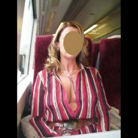 Topless Wife: Train Journey
