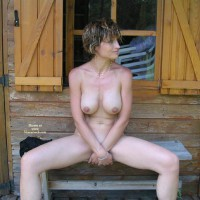 Legs Open - Big Tits, Nudity