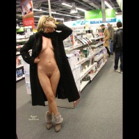 Naked Wife In A Store - Exhibitionist, Flashing Tits, Flashing, Landing Strip, Nude In Public, Nude Amateur, Nude Wife
