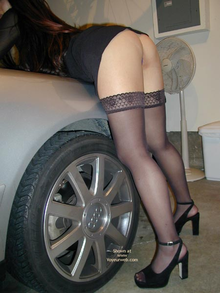 Pic #5 - Sexy Asian In Heels And Thighhighs