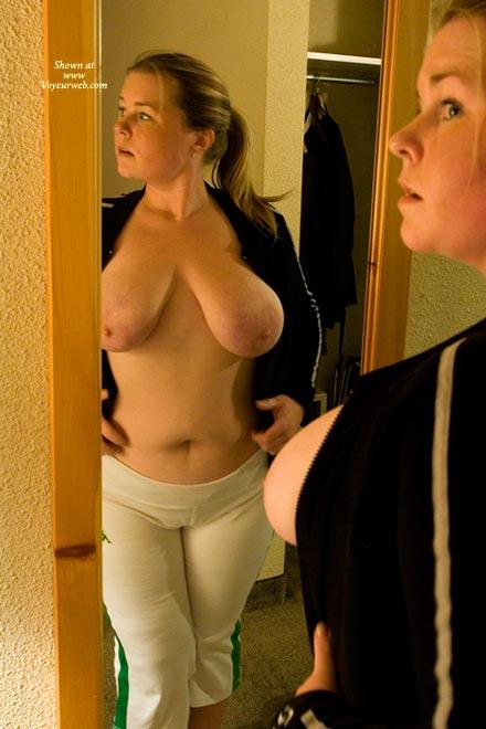 Pic #1 - Big Boobs In Mirror - Big Nipples, Big Tits, Mirror Shot, Topless , Big Boobs In Mirror, Mirror Images, Big Nipples, White Pants, Saggy Boobs, Big Boobs, Chunky Chick, Topless